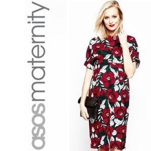 🖤ASOS Floral Maternity Wiggle Dress